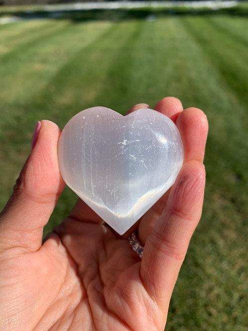 Selenite Sound Heart