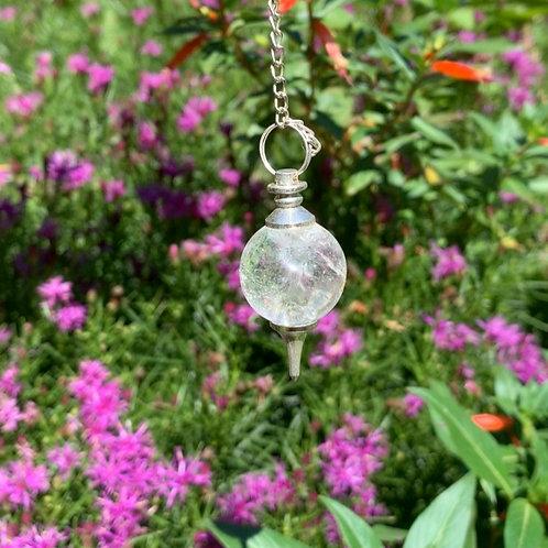Clear Quartz Sound Pendulum