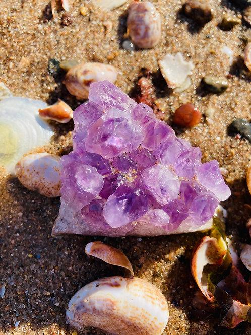 Raw Purple Amethyst Sound Geode