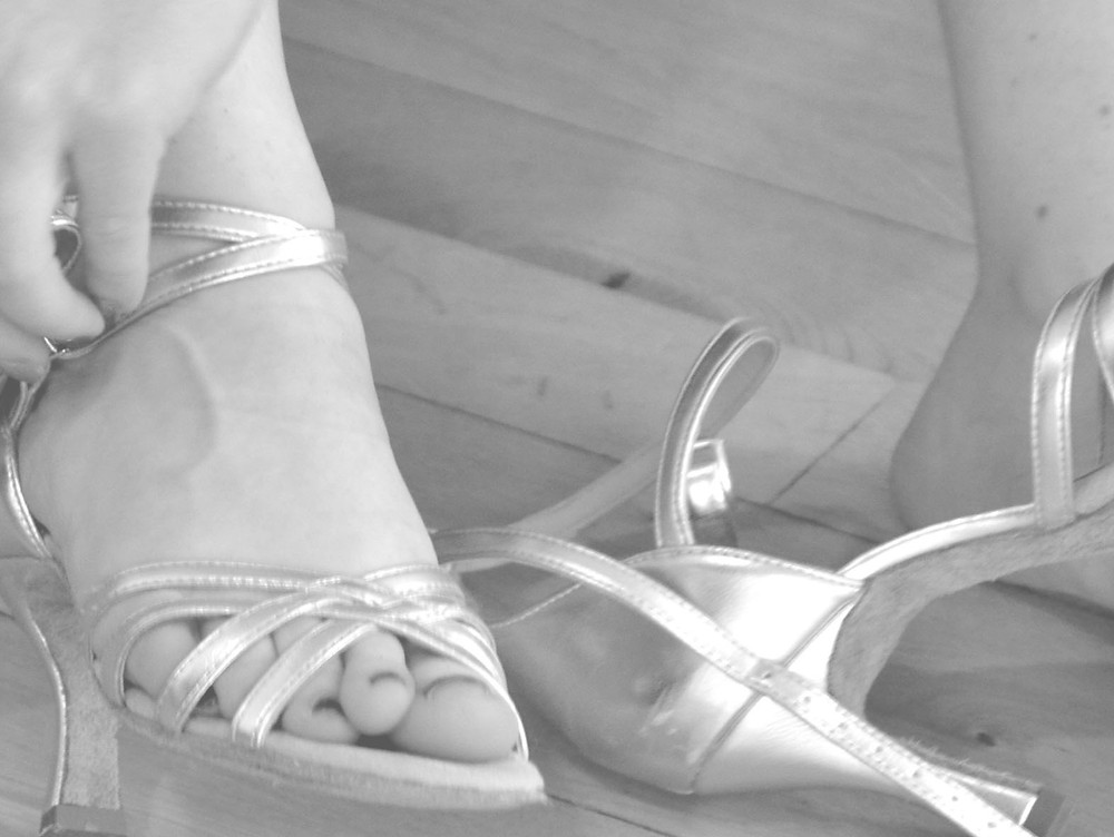 Haltung in Tanzschuhen