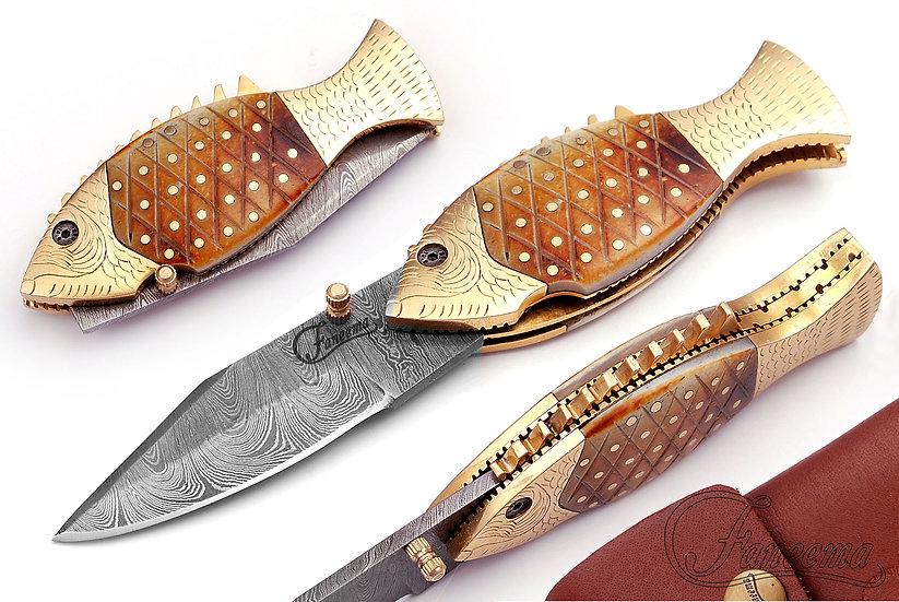 Faneema Damascus steel Fish Knife