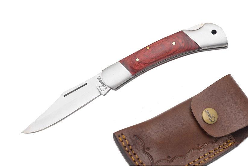 "440 Steel 3.5"" Pocket Knife with Paduk Wood Handle FC1117-1"