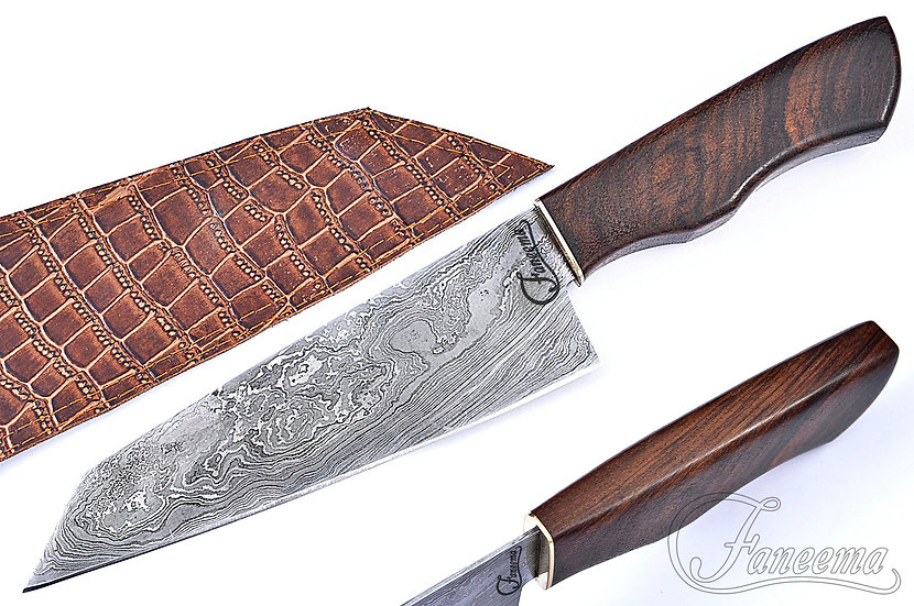 "Damascus 8"" Chef Knife with Rosewood Handle FC6108"