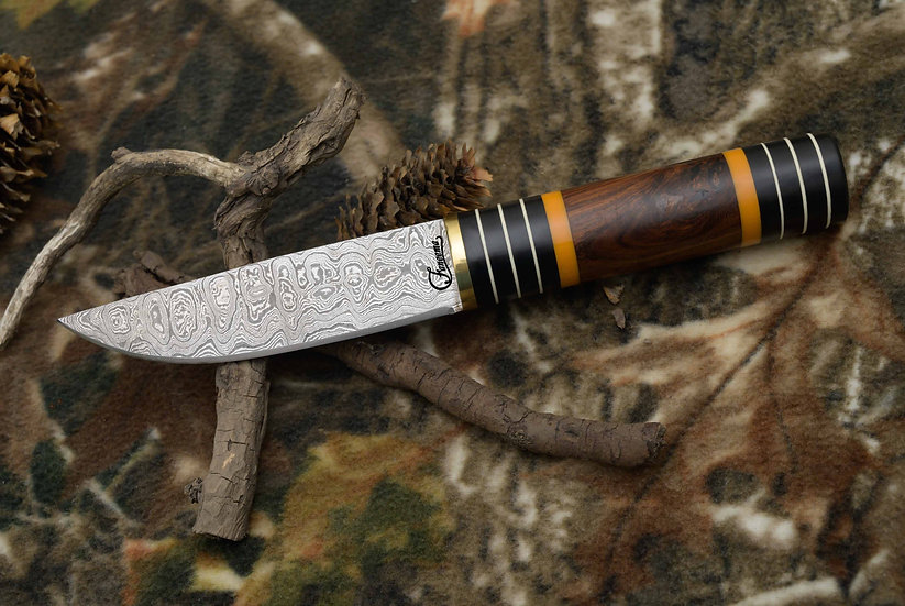 "Damascus 5"" Knife with Tali Wood Handle FC8528"