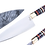 """Thumbnail: 1095 Steel 8"""" Chef Knife with Multi Color Resin and Pakkawood Handle  FC6120"""