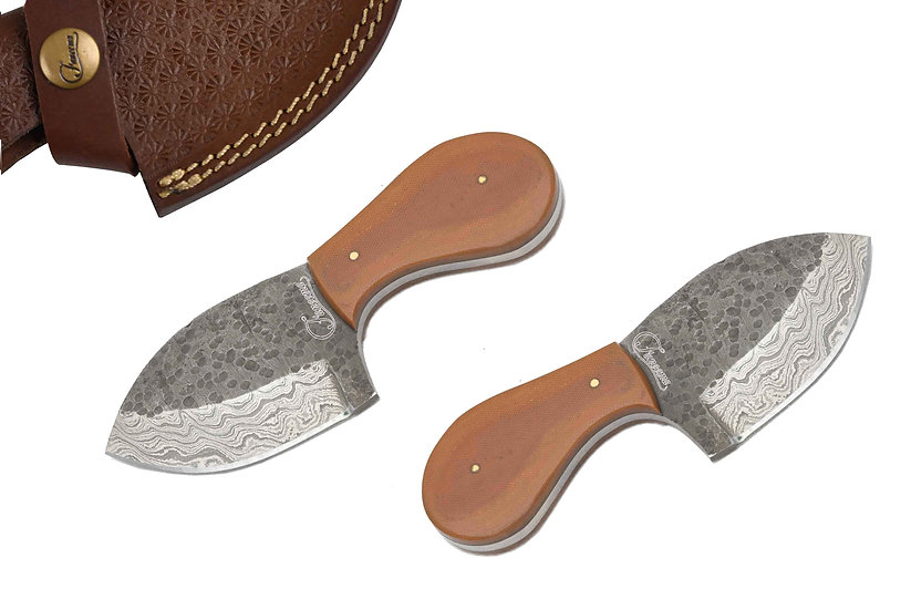 "Damascus 3.5"" Skinner with Brown Micarta Handle FC2105-2"