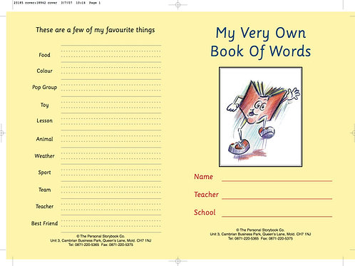 MY Very Own Book of Words v1 (School Name & Crest on Cover Only) Min Qty 100