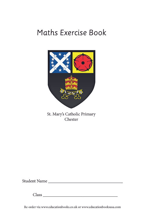 Maths Exercise Book (School Name and Crest on Cover as Standard) Min Qty 100