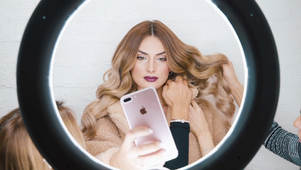 Gorgeous beauty influencer shows how a makeup shoot is brought to life