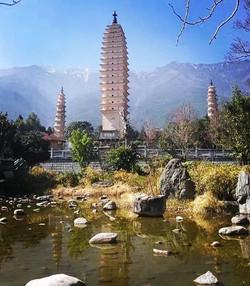 The Three Pagodas of ChongSheng Temple