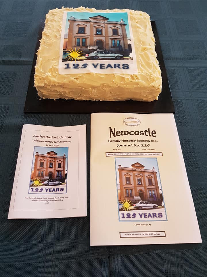 The 125th cake, the history booklet and Journal 226 for June 2019