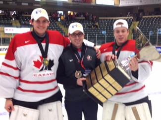 GOLD in Dawson Creek BC for Team Canada White and CGD coach Paul Schonfelder