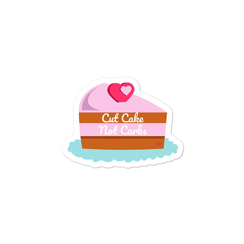 Bunny Barbell - Cut Cake Not Carbs Sticker