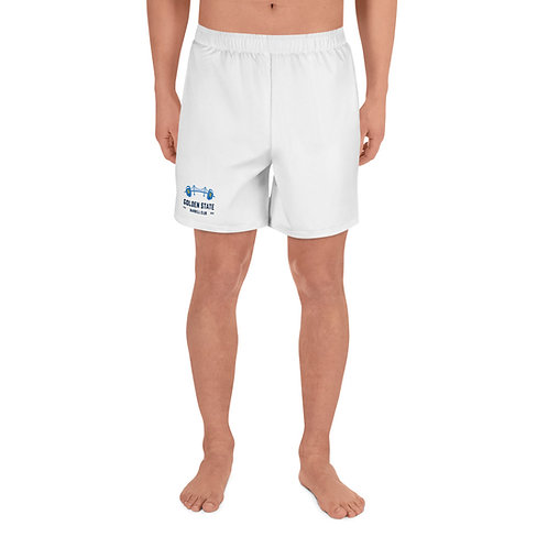 Golden State Barbell - Men's Athletic Shorts in White