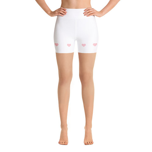 Bunny Barbell - Heart Shorts White