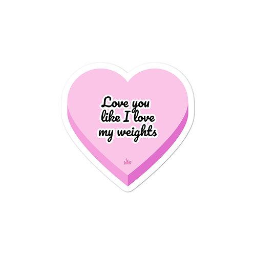 Bunny Barbell - Love Sticker