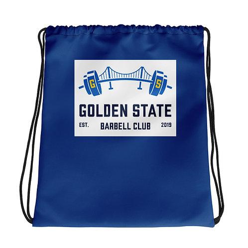 Golden State Barbell - Drawstring Bag Blue