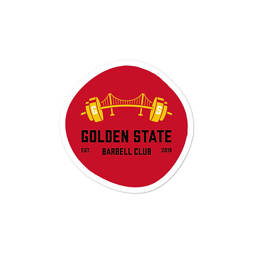 Golden State Barbell - Sticker Red