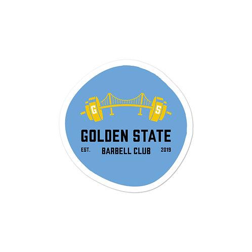 Golden State Barbell - Sticker Pale Blue
