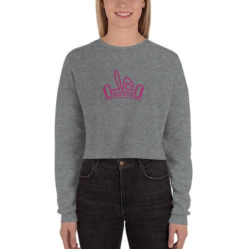 Bunny Barbell - Cropped Sweatshirt