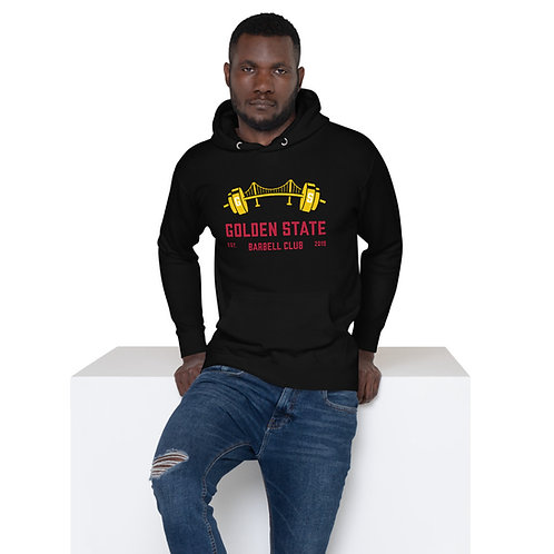 Golden State Barbell - Black Hoodie with Red & Yellow Logo