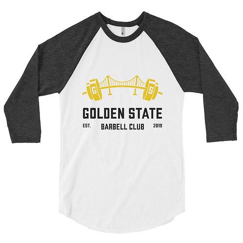 Golden State Barbell Club - 3/4 Sleeve Baseball Raglan