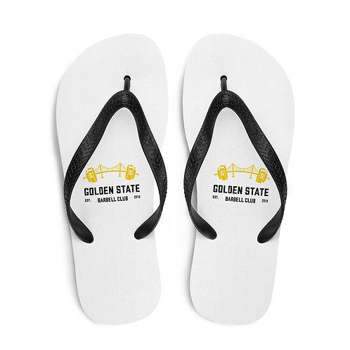 Golden State Barbell - Flip Flops White