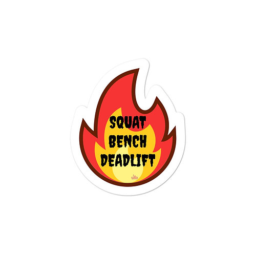 Bunny Barbell - Flame Sticker