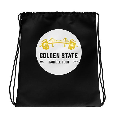 Golden State Barbell - Drawstring Bag Black