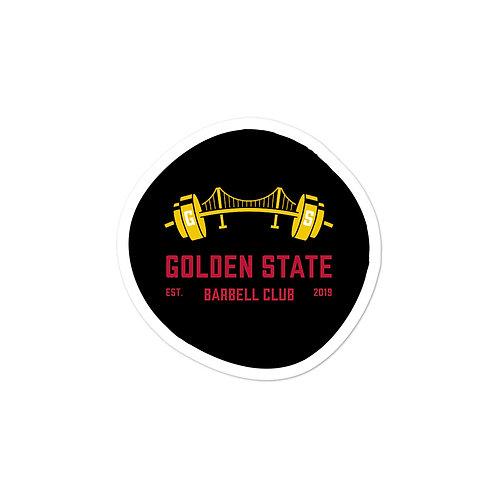 Golden State Barbell - Sticker Black