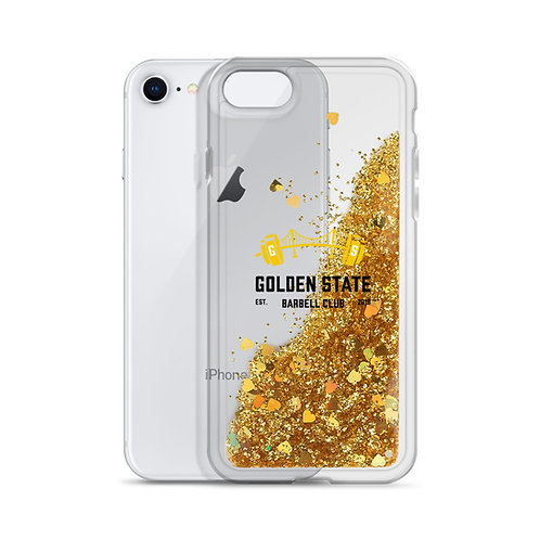 Golden State Barbell - iPhone Case Liquid Glitter