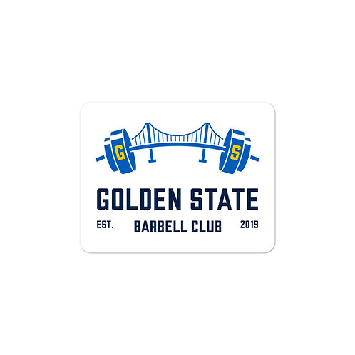 Official Logo Sticker - Golden State Barbell Club