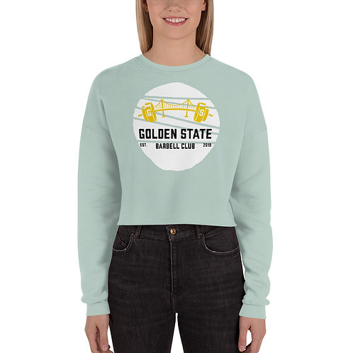 Golden State Barbell - Cropped Sweatshirt w/White Circle
