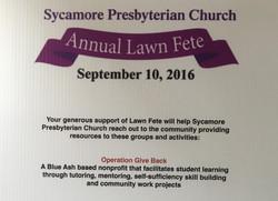 Sycamore Presbyterian Lawn Fete