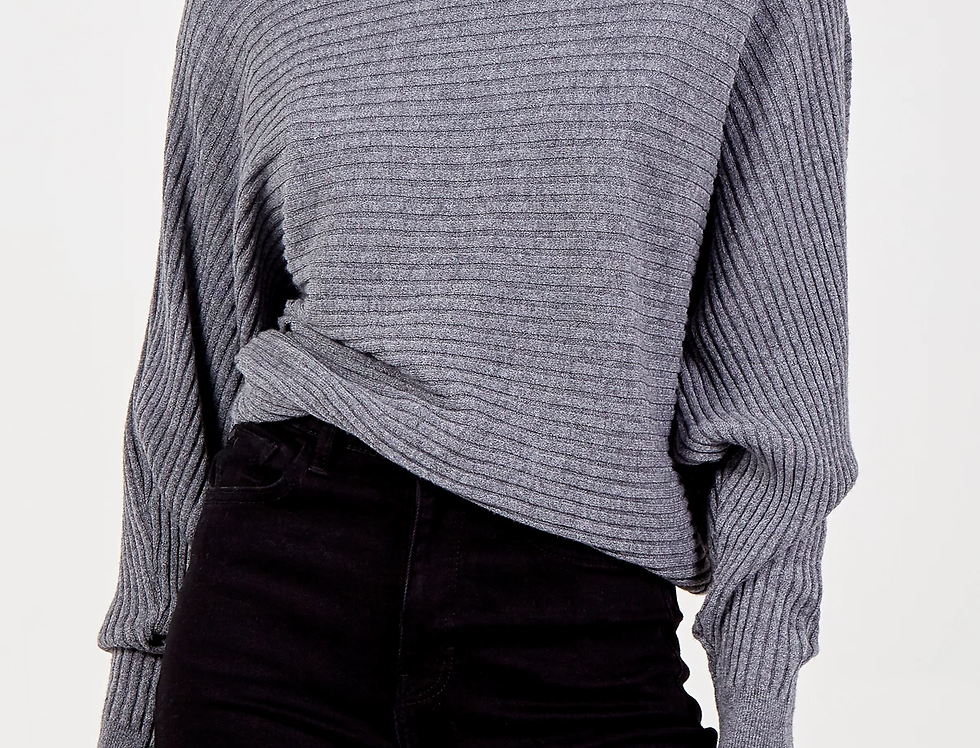 NORA Batwing Jumper in Grey