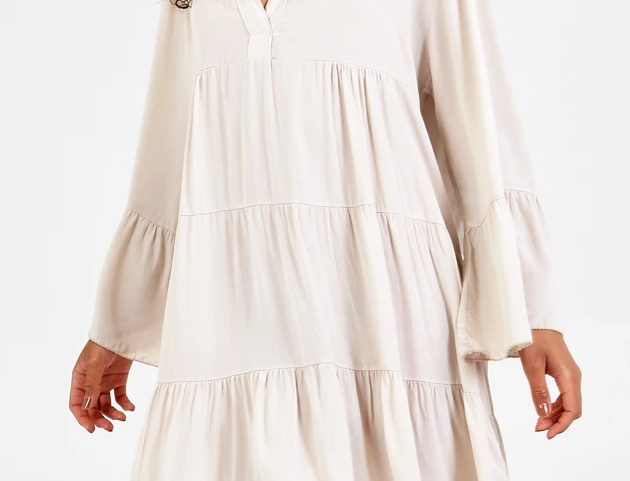 Tara Flare Dress in Cream