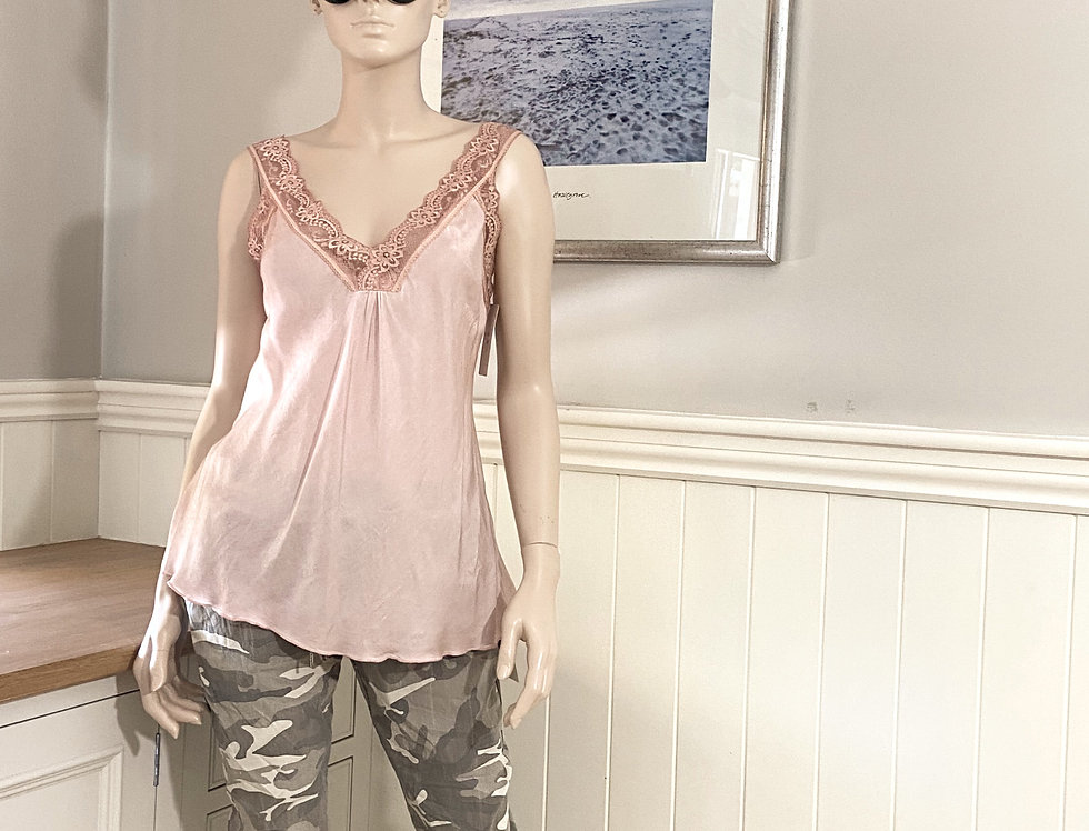 Tilly's Silky Camisole in Salmon Rose