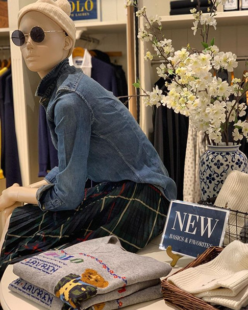 A tartan Plissee skirt matched with a co