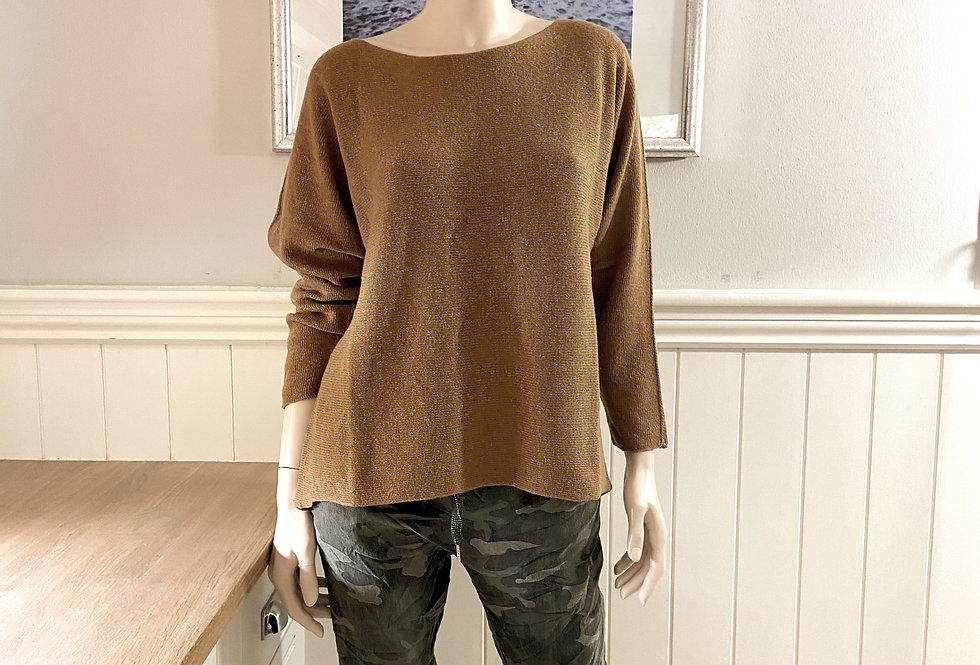 Aleisha Cashmere Blend Sweater in Camel