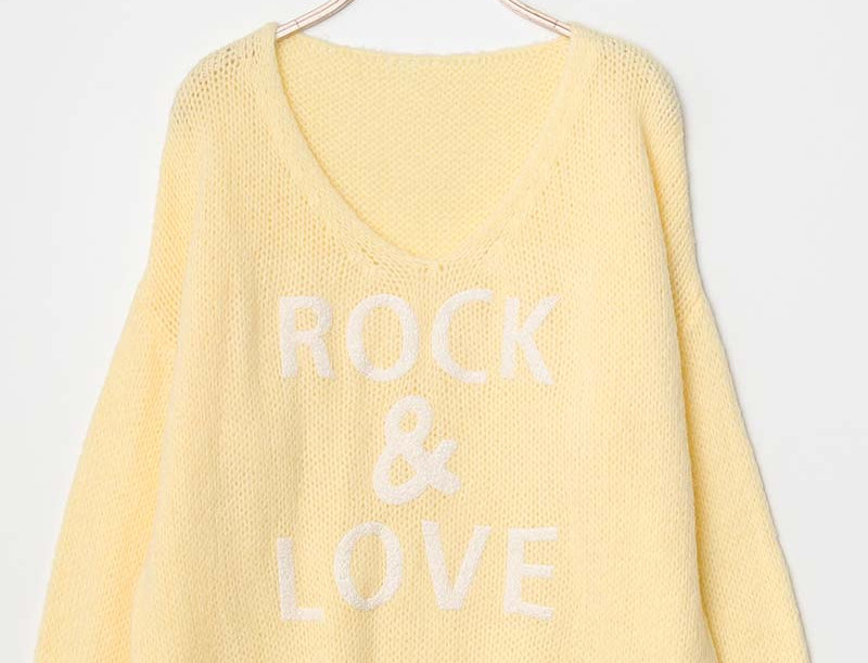 Sadie Rock & Love Sweater in Sunshine Yellow