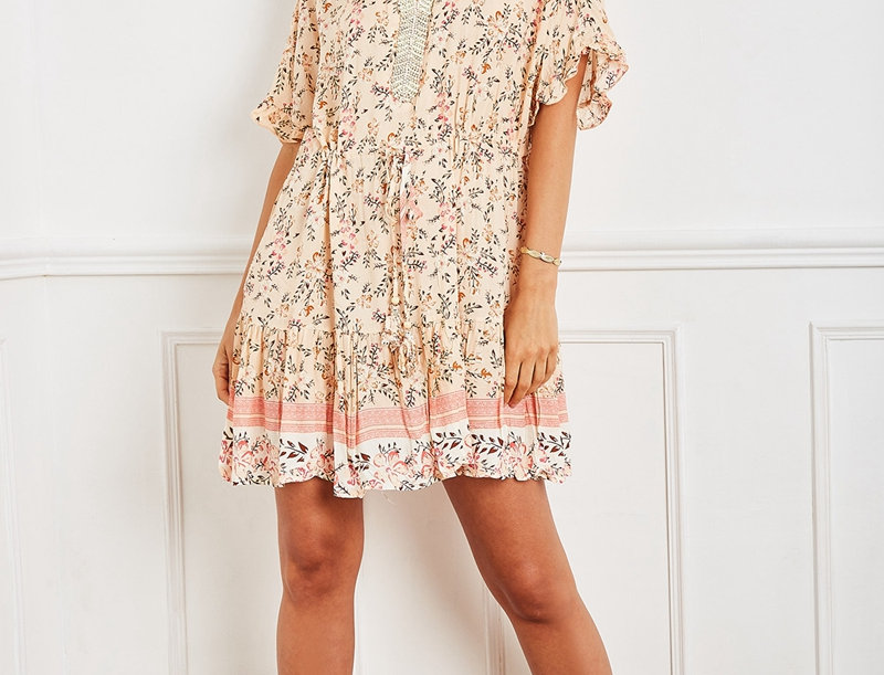 Poppy Dress in Pastel Blossom Print