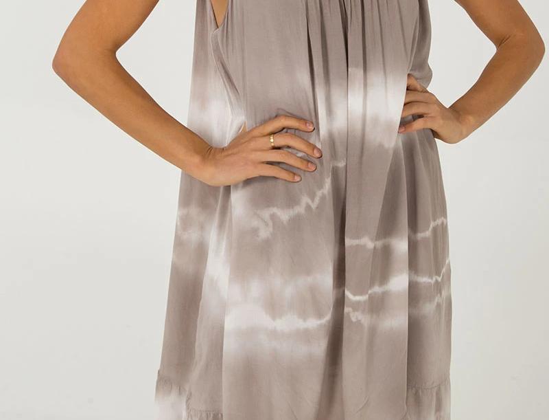 BeigeTie Dye Dress