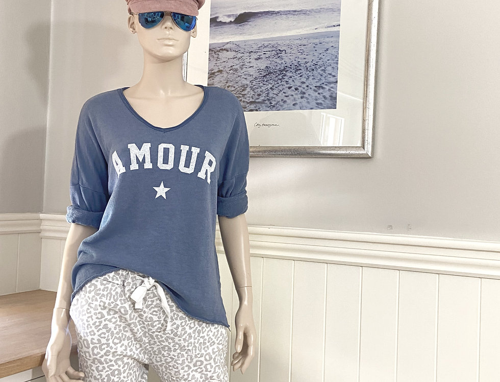 Amour Sweater in Denim Blue