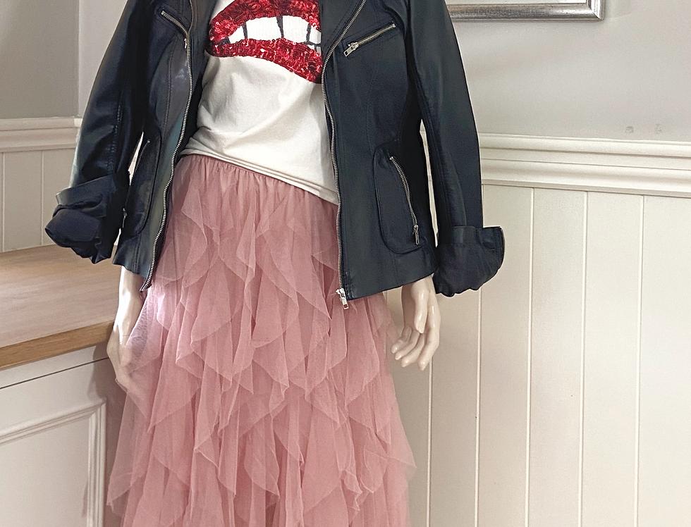 Kira Frilly Skirt in Rose