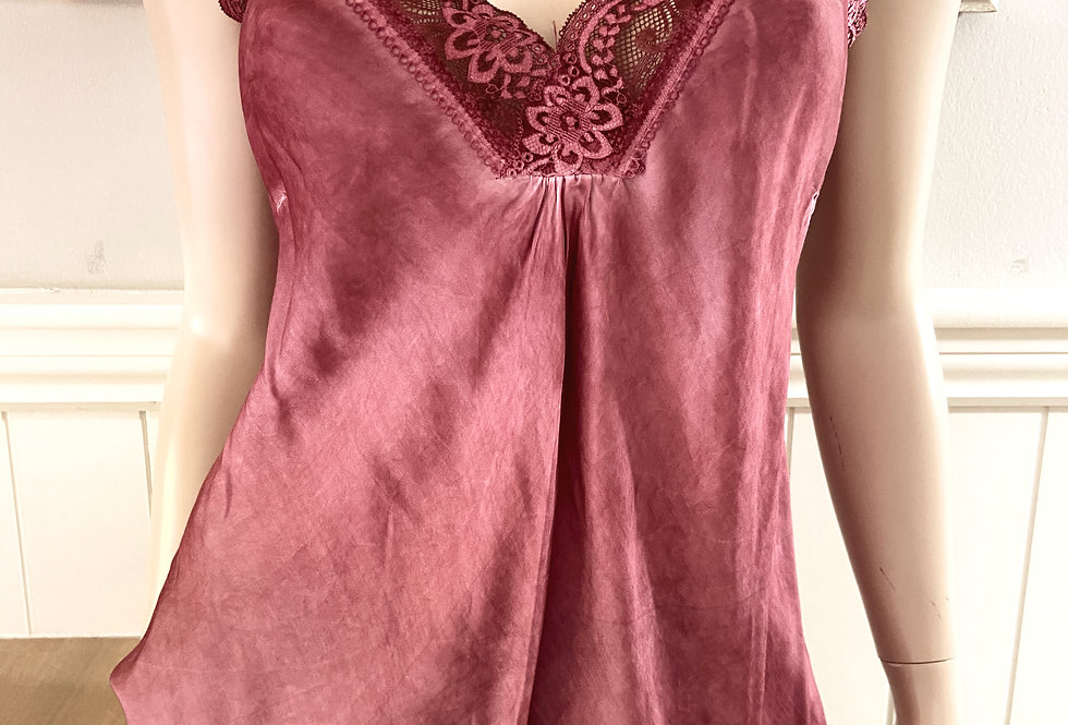 Tilly's Silky Camisole in Aubergine