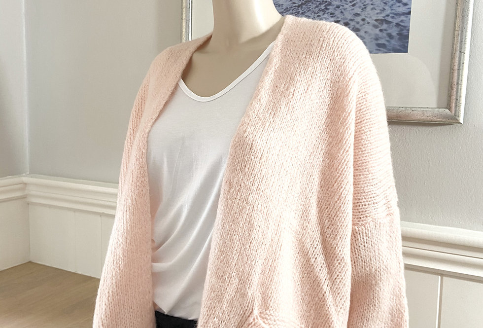 Jenna Cardigan with Pockets in Rose