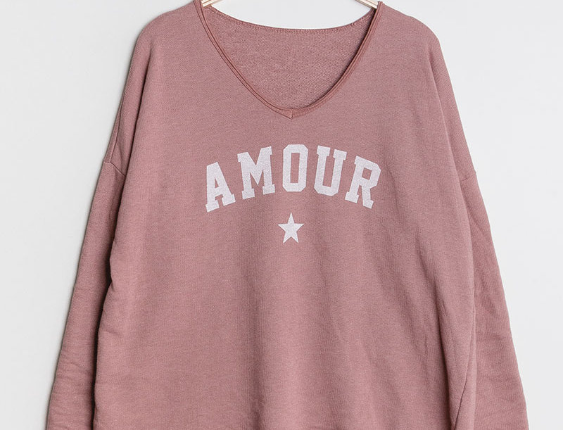 Amour Sweater in Old Rose