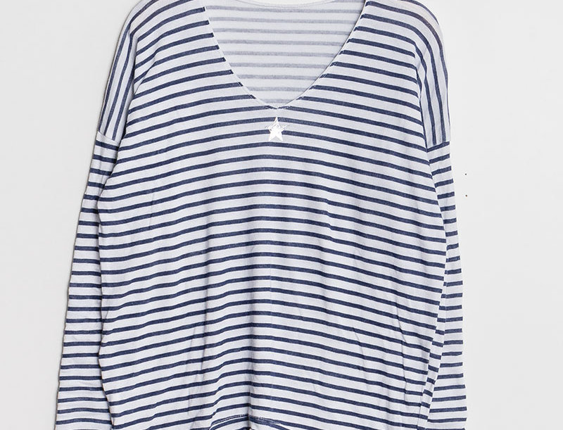 """LISA"" Breton Stripe long sleeve T-Shirt"