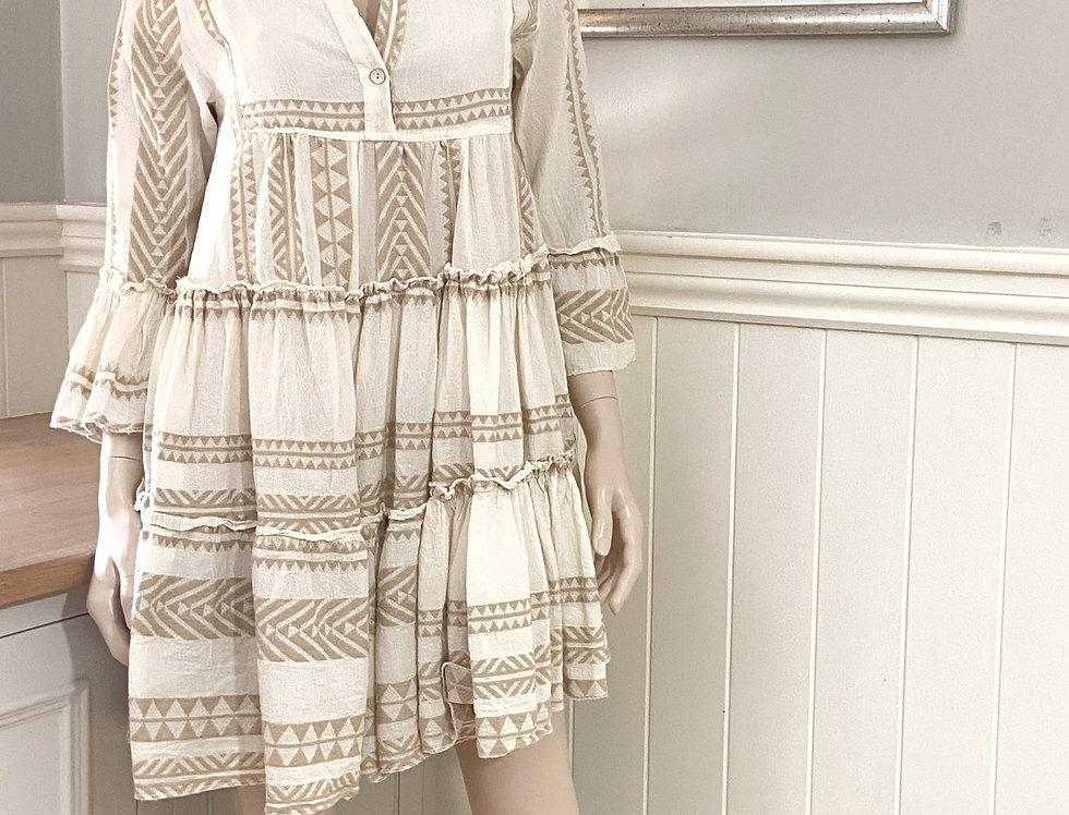 Lyra Aztec Smock Dress