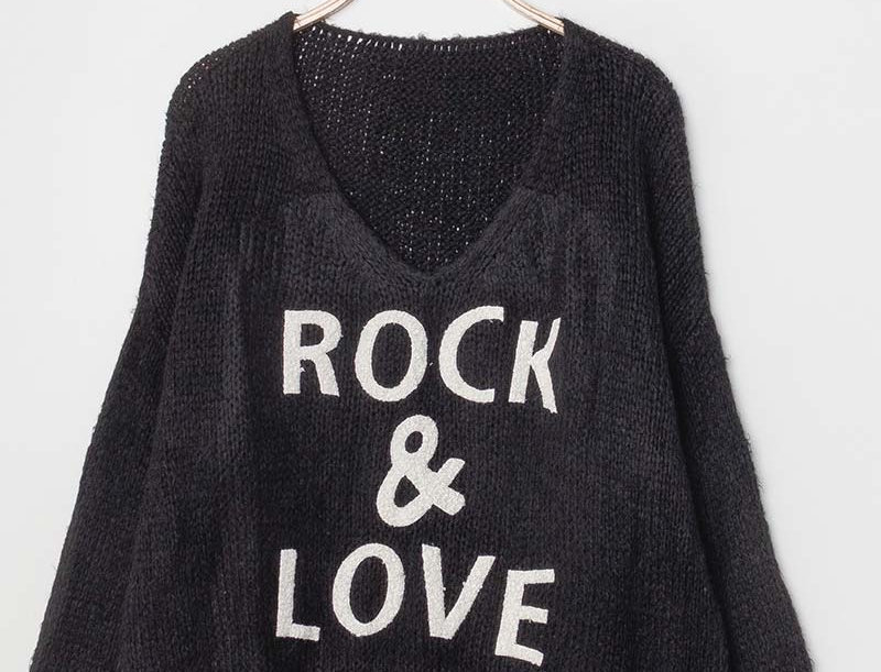 Sadie Rock & Love Sweater in Black